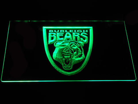 Burleigh Bears LED Neon Sign - Green - SafeSpecial