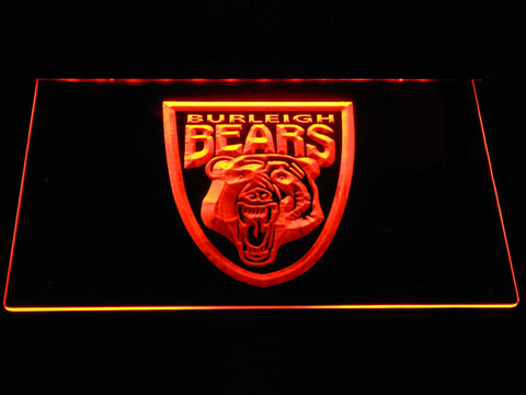 Image of Burleigh Bears LED Neon Sign - Orange - SafeSpecial
