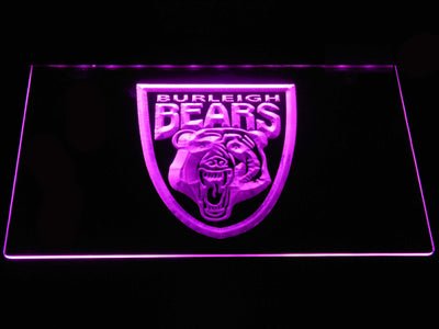 Burleigh Bears LED Neon Sign - Purple - SafeSpecial