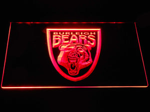 Burleigh Bears LED Neon Sign - Red - SafeSpecial