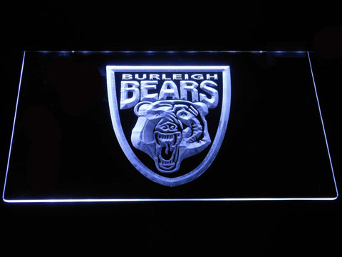 Image of Burleigh Bears LED Neon Sign - White - SafeSpecial
