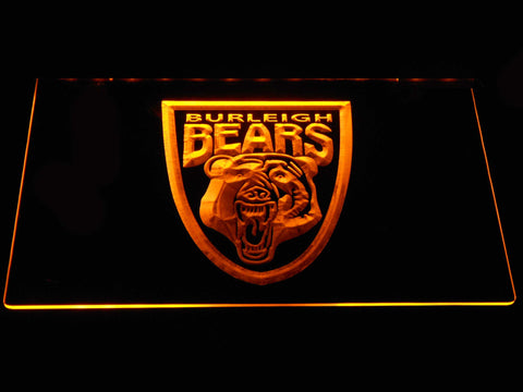 Image of Burleigh Bears LED Neon Sign - Yellow - SafeSpecial