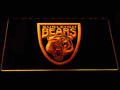 Burleigh Bears LED Neon Sign - Yellow - SafeSpecial