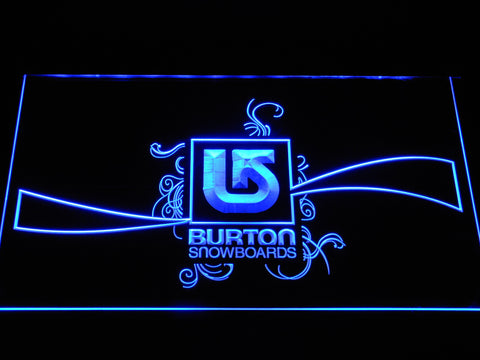 Burton Snowboards LED Neon Sign - Blue - SafeSpecial