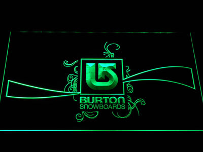 Burton Snowboards LED Neon Sign - Green - SafeSpecial