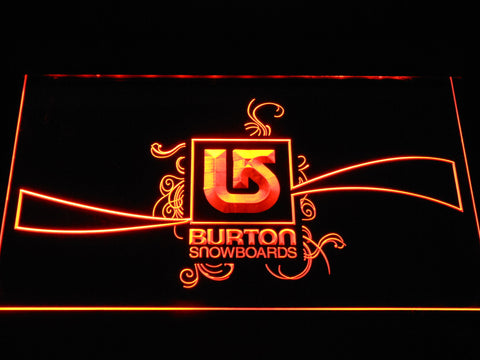 Burton Snowboards LED Neon Sign - Orange - SafeSpecial