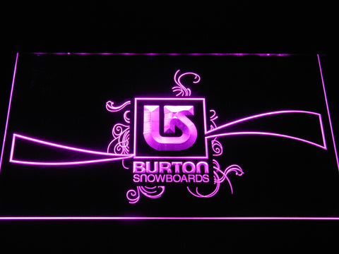 Burton Snowboards LED Neon Sign - Purple - SafeSpecial