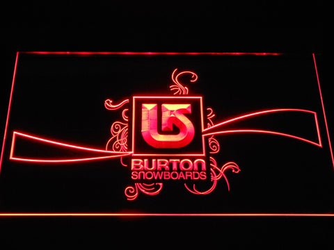 Burton Snowboards LED Neon Sign - Red - SafeSpecial