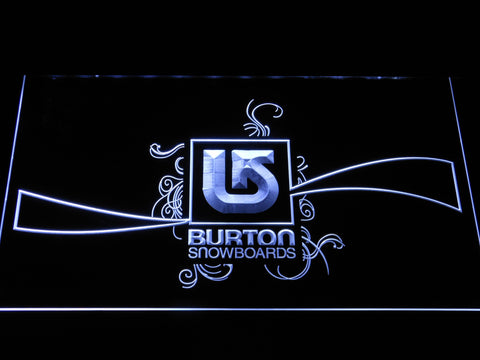 Burton Snowboards LED Neon Sign - White - SafeSpecial