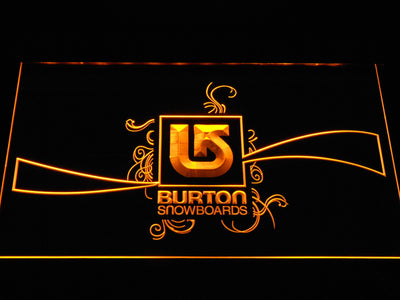 Burton Snowboards LED Neon Sign - Yellow - SafeSpecial
