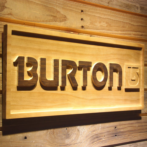 Burton Wooden Sign - - SafeSpecial
