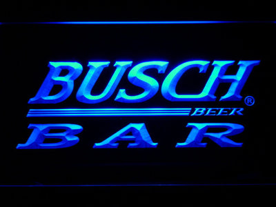 Busch Bar LED Neon Sign - Blue - SafeSpecial