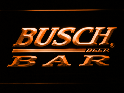 Busch Bar LED Neon Sign - Orange - SafeSpecial