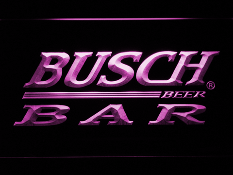 Image of Busch Bar LED Neon Sign - Purple - SafeSpecial