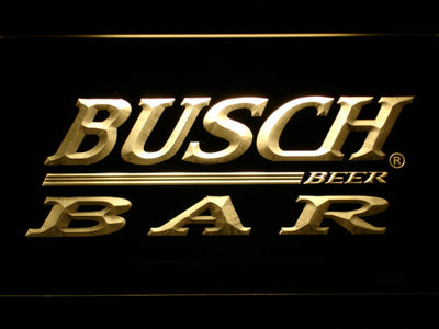 Busch Bar LED Neon Sign - Yellow - SafeSpecial
