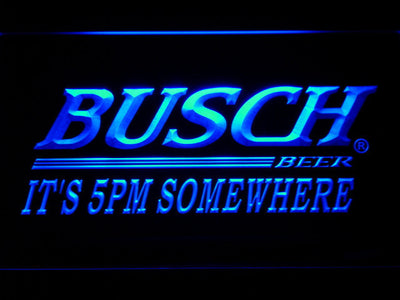 Busch It's 5pm Somewhere LED Neon Sign - Blue - SafeSpecial