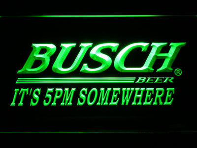 Busch It's 5pm Somewhere LED Neon Sign - Green - SafeSpecial