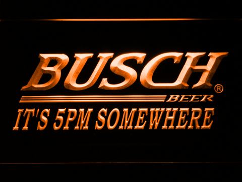 Busch It's 5pm Somewhere LED Neon Sign - Orange - SafeSpecial
