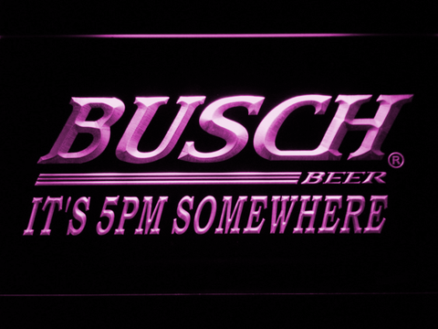 Busch It's 5pm Somewhere LED Neon Sign - Purple - SafeSpecial
