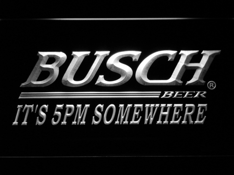 Busch It's 5pm Somewhere LED Neon Sign - White - SafeSpecial