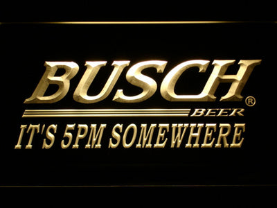 Busch It's 5pm Somewhere LED Neon Sign - Yellow - SafeSpecial