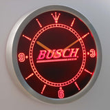 Busch LED Neon Wall Clock - Red - SafeSpecial