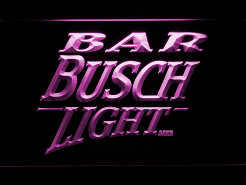 Image of Busch Light Bar LED Neon Sign - Purple - SafeSpecial