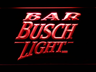 Busch Light Bar LED Neon Sign - Red - SafeSpecial