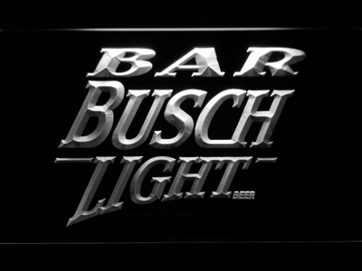 Busch Light Bar LED Neon Sign - White - SafeSpecial