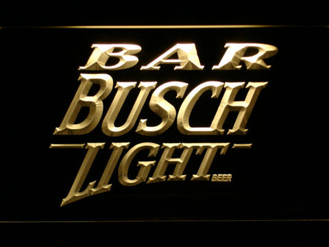 Image of Busch Light Bar LED Neon Sign - Yellow - SafeSpecial