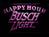 Busch Light Happy Hour LED Neon Sign - Purple - SafeSpecial