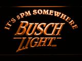 Busch Light It's 5pm Somewhere LED Neon Sign - Orange - SafeSpecial