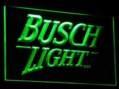 Busch Light LED Neon Sign - Green - SafeSpecial