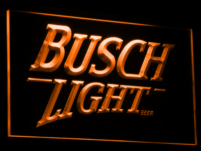 Busch Light LED Neon Sign - Orange - SafeSpecial