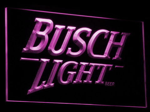 Image of Busch Light LED Neon Sign - Purple - SafeSpecial