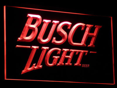 Busch Light LED Neon Sign - Red - SafeSpecial