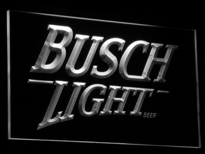 Busch Light LED Neon Sign - White - SafeSpecial