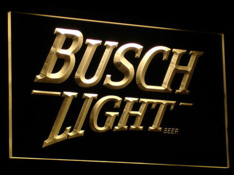 Image of Busch Light LED Neon Sign - Yellow - SafeSpecial