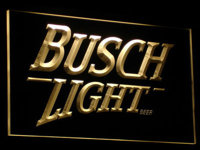 Busch Light LED Neon Sign - Yellow - SafeSpecial