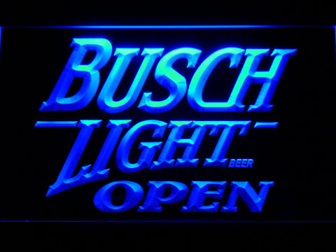 Image of Busch Light Open LED Neon Sign - Blue - SafeSpecial