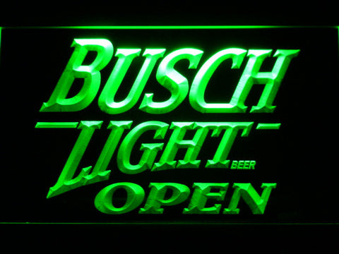 Image of Busch Light Open LED Neon Sign - Green - SafeSpecial