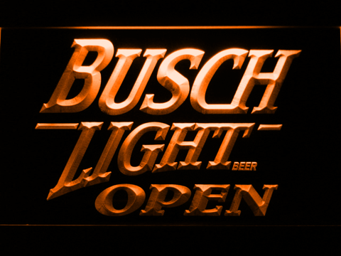 Image of Busch Light Open LED Neon Sign - Orange - SafeSpecial