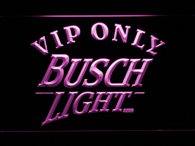Busch Light VIP Only LED Neon Sign - Purple - SafeSpecial