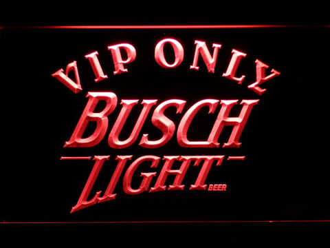 Image of Busch Light VIP Only LED Neon Sign - Red - SafeSpecial