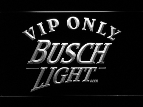 Image of Busch Light VIP Only LED Neon Sign - White - SafeSpecial