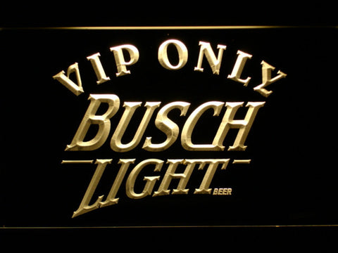 Image of Busch Light VIP Only LED Neon Sign - Yellow - SafeSpecial