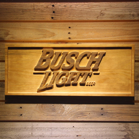 Image of Busch Light Wooden Sign - Small - SafeSpecial