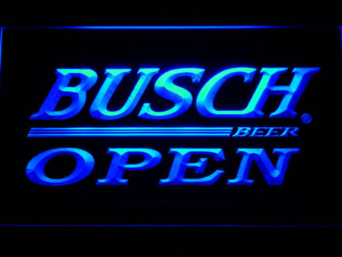 Busch Open LED Neon Sign - Blue - SafeSpecial