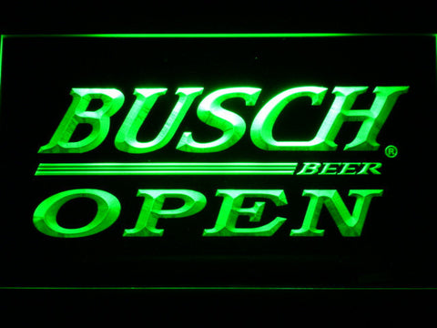 Busch Open LED Neon Sign - Green - SafeSpecial