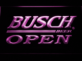 Busch Open LED Neon Sign - Purple - SafeSpecial